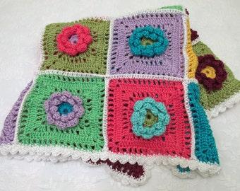Flowers for Baby Crocheted Blanket