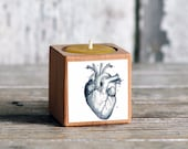Medical Candleblock: No. 5, Cobblestone Heart - by Peg and Awl