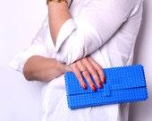 Blue clutch made entirely of LEGO bricks FREE SHIPPING