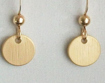 Circle earrings, modern Earrings, Gold or Silver Earrings, Round, Free Shipping, Minimalist earrings, gift for Her, Mom, SIster, Christmas