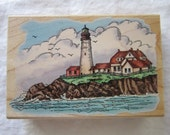rubber stamp - Portland Head Lighthouse - Stampendous circa 1997