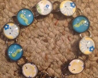 Bubbly Sea Creatures Image Bracelet
