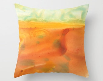 Homesick II Watercolor Throw Pillow Cover