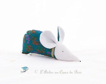 Organic lavender sachet turquoise mouse : Corentine by L'Atelier Au Creux du Bois