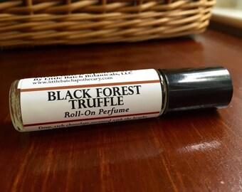 Black Forest Truffle Perfume Oil, vegan perfume, roll on perfume, chocolate perfume, sweet perfume, cake perfume,  dessert bakery pastry