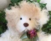 Kizzie, A Real Fur Teddy Bear, Genuine Curly Mongolian Lamb Fur