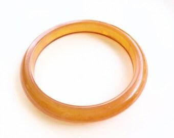 REDUCED PRICE Antique Bakelite bangle bracelet Amber orange color bangle bracelet