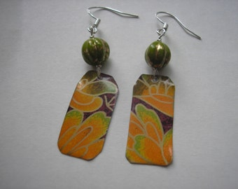 Upcycled Tea Tin Earrings