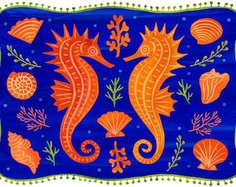 Seahorses & Shells