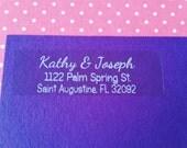 50 Elegant CLEAR/SILVER/GOLD Personalized Return Address Labels-Wedding, Party Invitation, Shower, Birthday