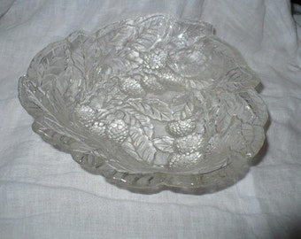 Glass Candy Dish Fruit Design