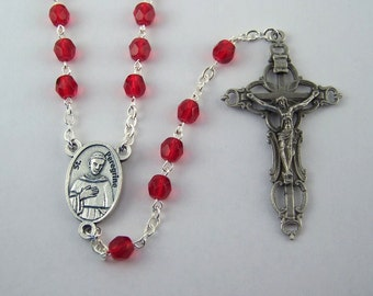 Saint Peregrine Rosary Patron Saint of Cancer Your Choice of Bead Color (109)