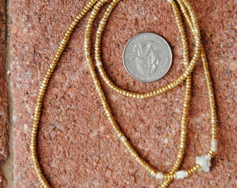 African Brass Spacer Beads (1.5x2.5mm)
