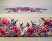 Residential Wall mount hand painted mailbox ROMANTIC ROSES horizontal or vertical