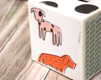 Dog Lover Bank, Doggy Wood Bank, Kids Money Banks, Coin Bank, Handmade Gifts, Cat and Dog, Modern Kids Room Decor, Coin Box, Children