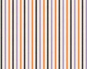 Happy Haunting from Riley Blake - Full or Half Yard Multi Stripe Halloween