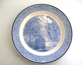 Vintage Shenango China Blue & White South Carolina College For Women Commemorative Plate Wintrop College