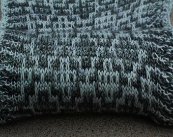 Pattern Only Mykonos 2 Color Slip Stitch Scarf or Shawlette