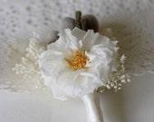 Vintage Rose Boutonniere