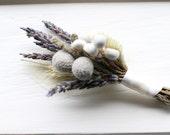 Lavender Meadow Boutonniere