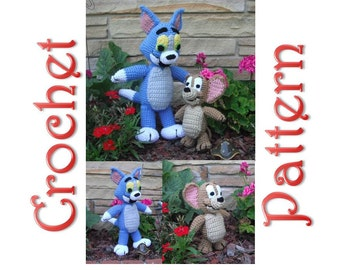 A Cat and A Mouse 2 Crochet Patterns by Erin Scull