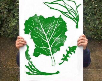 "Wild Plants - Poster print  20""x27"" - archival fine art giclée print"