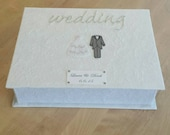 Personalised Bride and Groom Wedding Keepsake Box