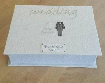 Personalised Bride and Groom Wedding Keepsake Box
