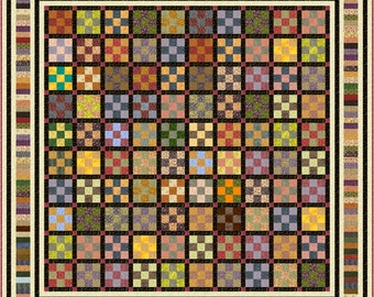 """ZEALOUSLY -Large King 119.5"""" x 119.5"""" or King 101.5"""" x 101.5"""" - Quilt-Addicts Pre-cut Patchwork Quilt Kit or Finished Quilt"""