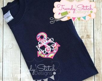 Anchor 5 Applique Design Machine Embroidery Design INSTANT DOWNLOAD