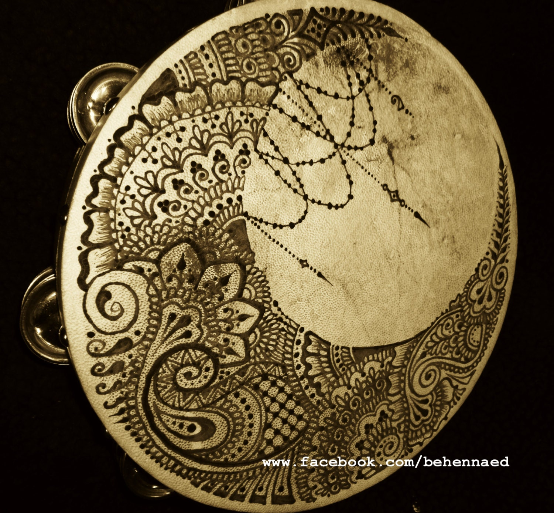 Crescent Moon Tambourine Henna