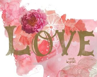 Love Art Print 11 x 14*