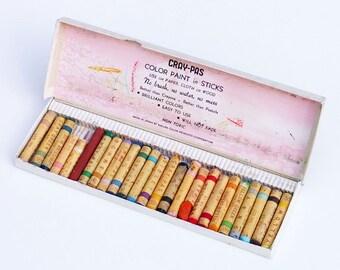Vintage Crayons Sakura Cray Pas Color Oils Paint Sticks