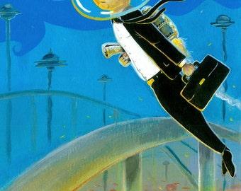 Mid Century MCM Science Fiction Retro Futuristic 8x10 Print
