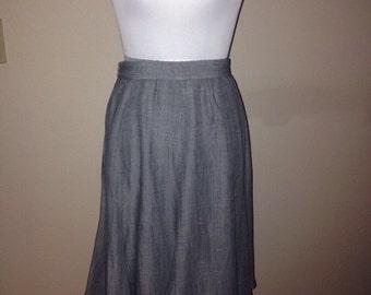 1980s Grey Cathy Hardwick Skirt