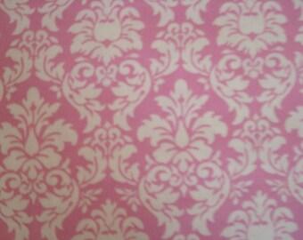 Pink Petite Dandy Damask Fabric by Michael Miller - 1 Yard