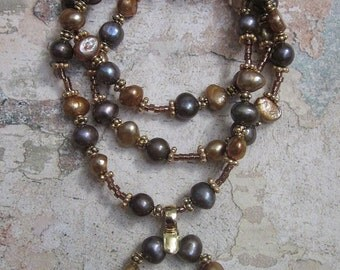 Cassiopea - Pearl Necklace and Vermeil