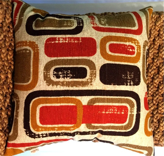 Mid-Century Geometric Danish Modern Pillow Cover 60s/70s