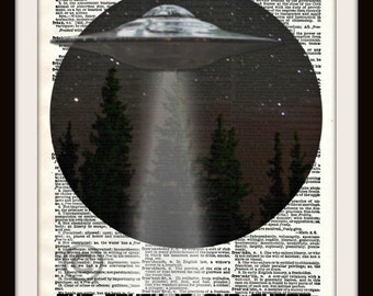 X Files Aliens UFO Inspired The Truth is Out There Minimalist Art Print