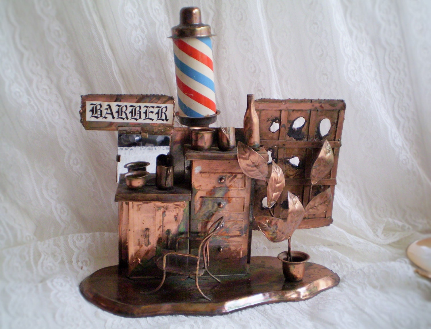 Reserved vintage barber shop music box barber shop decor for Shop decoration items