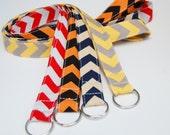 School Spirit Chevron Lanyard - Design Your Own - Personalized ID Badge Holder - Monogrammed - Key Strap