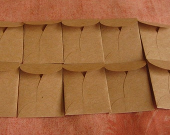 "25 Mini Brown Coin Envelopes - Recycled Brown Envelopes - Recycled Mini Coin Envelopes - Tiny Coin Envelopes - 1 3/8"" x 2"""