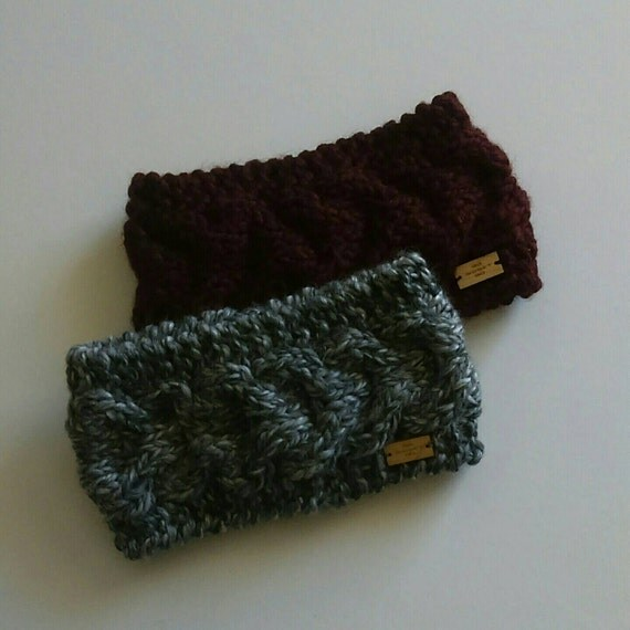 Chunky Cable knit Headband Available in 2colors by GoGidgetGo