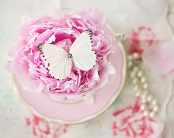 Butterfly In Teacup ~ 8x10 print