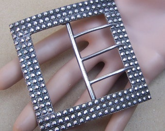 Victorian cut steel belt buckle sash buckle dress buckle antique buckle costume accessory