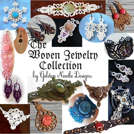 Machine Embroidery Designs To Make Woven Jewelry Pes Art