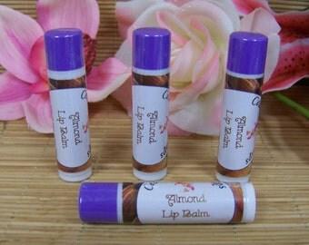 Almond Lip Balm ~  Almond Flavored Moisturizing Natural Lip Balms