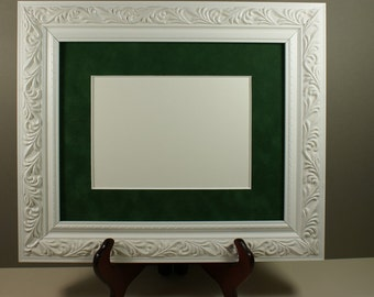 White Satin Ornate Picture Frame - Photo Frame - Wood Picture Frame