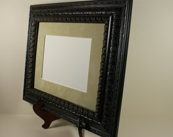 Antique Ornate Picture Frame - 8 x 10 Photo Frame - Black Cherry Wood Picture Frame