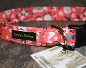 "Dog Collar, Floral Dog Collar, Girl Dog Collar, Boy Dog Collar, Girly Dog Collar, ""The Aztec Garden"""